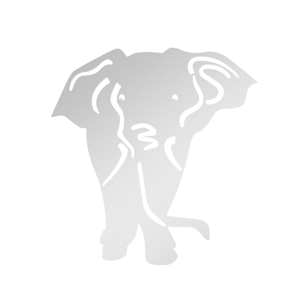 Miroir décoratif modèle Eléphant - Série Animaux - Miroir mural acrylique pour décoration intérieure