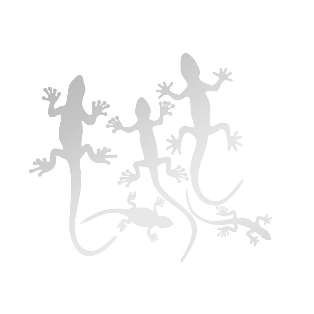 Miroir décoratif modèle 5 Lézards Gecko - Série Animaux - Miroir mural acrylique pour décoration intérieure