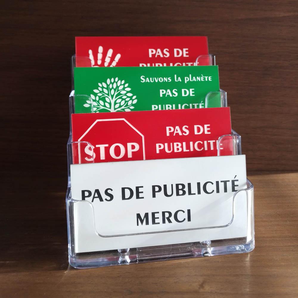 Pack 24 plaques Stop Pub pour boite aux lettres - Accessoires comptoir buralistes, boulangeries, mairie, fleuriste