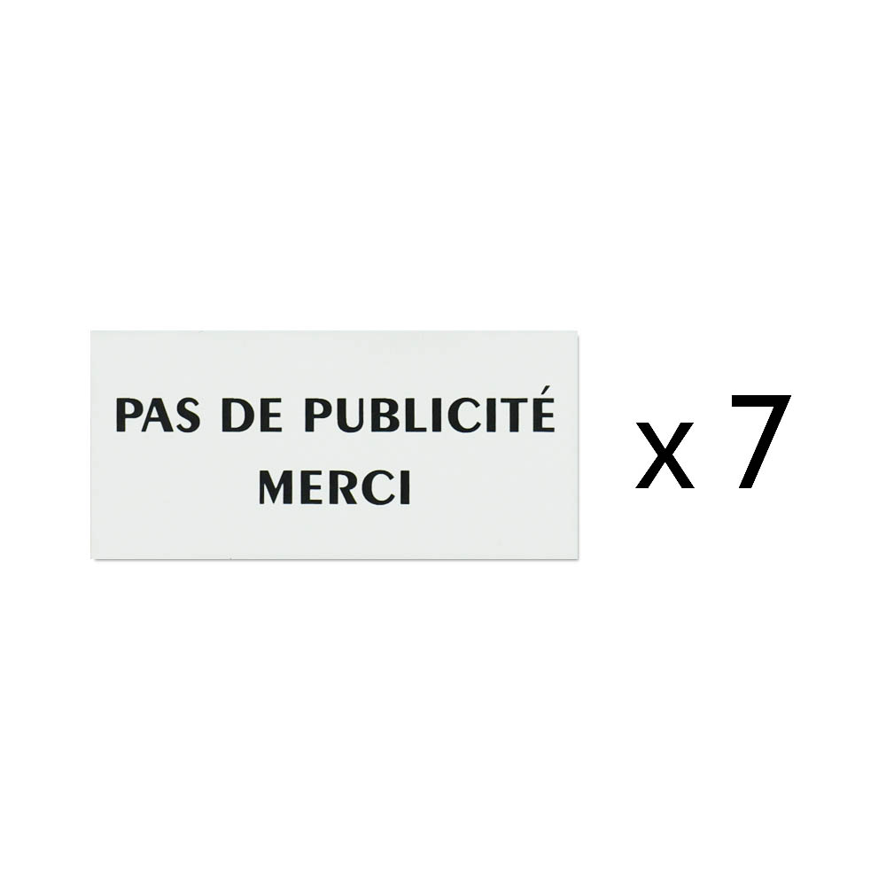 Pack 28 plaques Stop Pub pour boite aux lettres - Accessoires comptoir buralistes, boulangeries, mairie, fleuriste