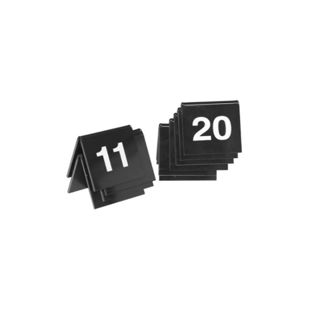 Lot de 10 chevalets de table noir numérotés