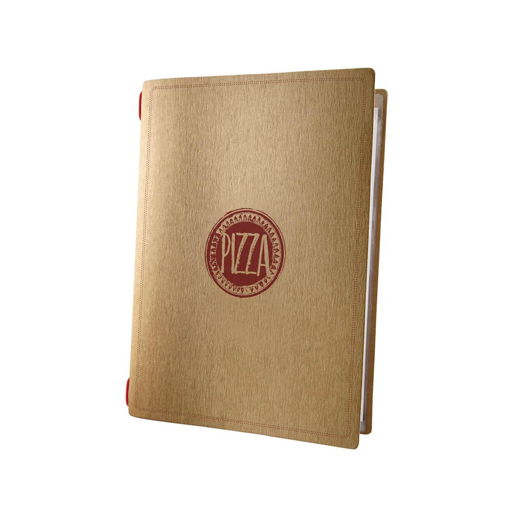 Protège menu restaurant pizzeria format A5 écologique 1 insert modèle PIZZA - Dag Style