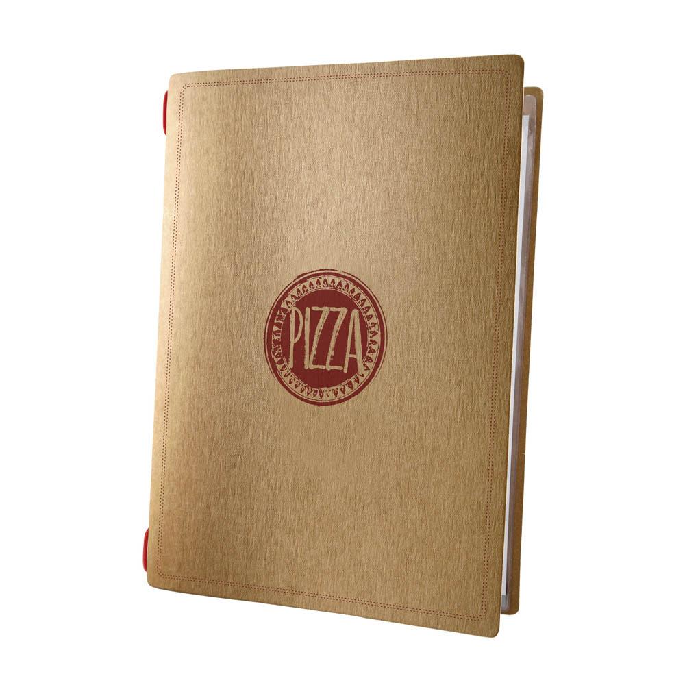 Protège menu pour restaurant pizzeria format A4 écologique 1 insert modèle PIZZA - Dag Style
