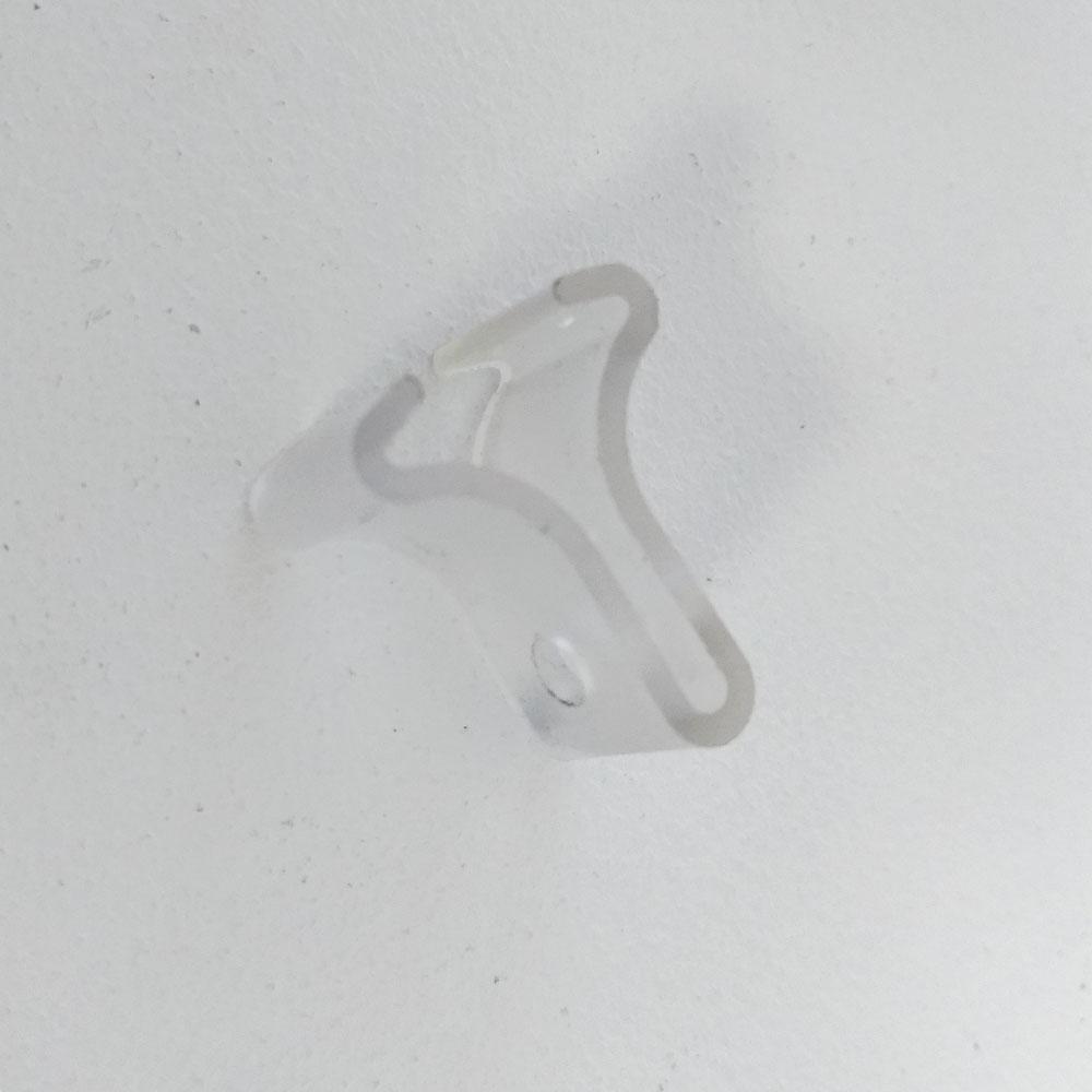 Lot de 100 clips à crochet double pour faux plafond - Crochet pour fixation suspendue pour faux plafond
