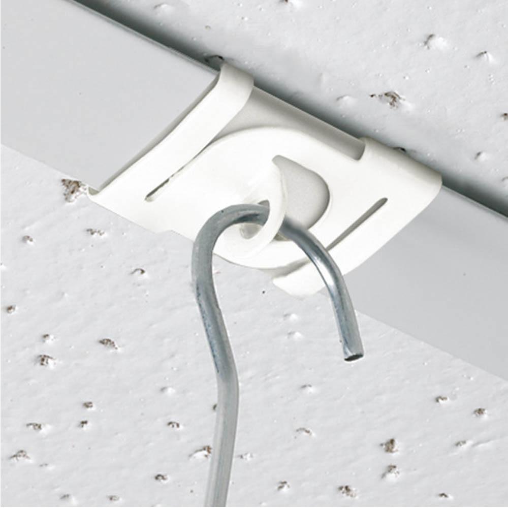 Lot de 10 crochets, attaches platine en métal pour aux plafond - Crochet de fixation de signalétique pour faux plafond