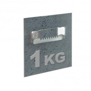 Attache adhésive type crocodile format 50 x 52 mm pour fixation Dibond, cadre et miroir - Charge 1 kg