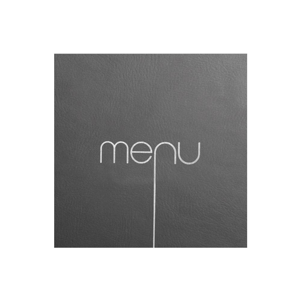 Protège menu Risto couleur noir format carré 21 cm x 21 cm pour présentation menus hôtels - restaurants