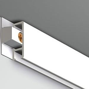 Pack Eco 30 mètres de cimaises Click Rail couleur Blanc laqué (RAL9010) - Solution suspension cadres et tableaux