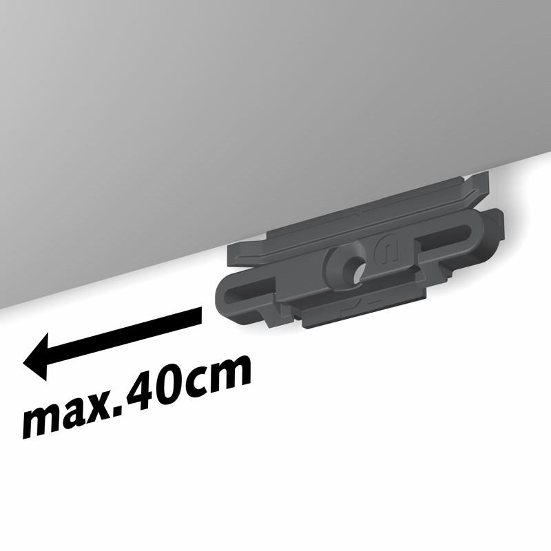 Pack complet 100 mètres cimaises R10 MICRO PERLON couleur Aluminium anodisé