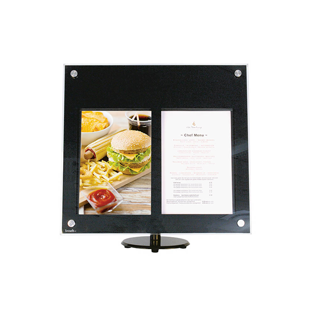 Porte-menu Led Comptoir