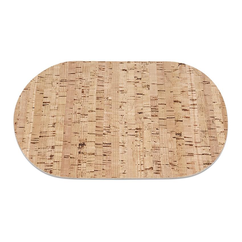 4 sets de table ovales en liège (30 cm x 20 cm) pour décoration de table / cuisine pour déjeuner, dîner