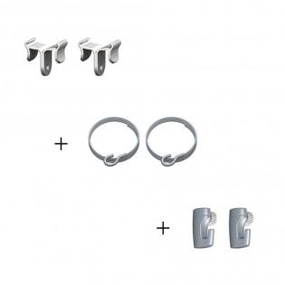 Ceiling clamper + câbles + crochets H50 : Solution pour fixation suspendue pour faux plafond