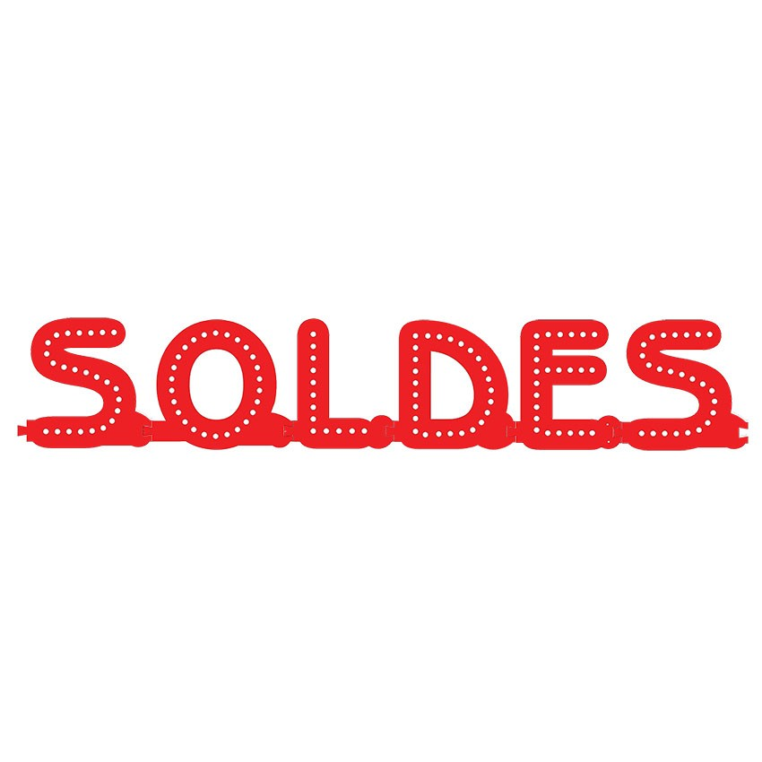 Enseigne SOLDES : lettres lumineuses Smart LED - Enseigne lumineuse pour vitrine magasin boutique