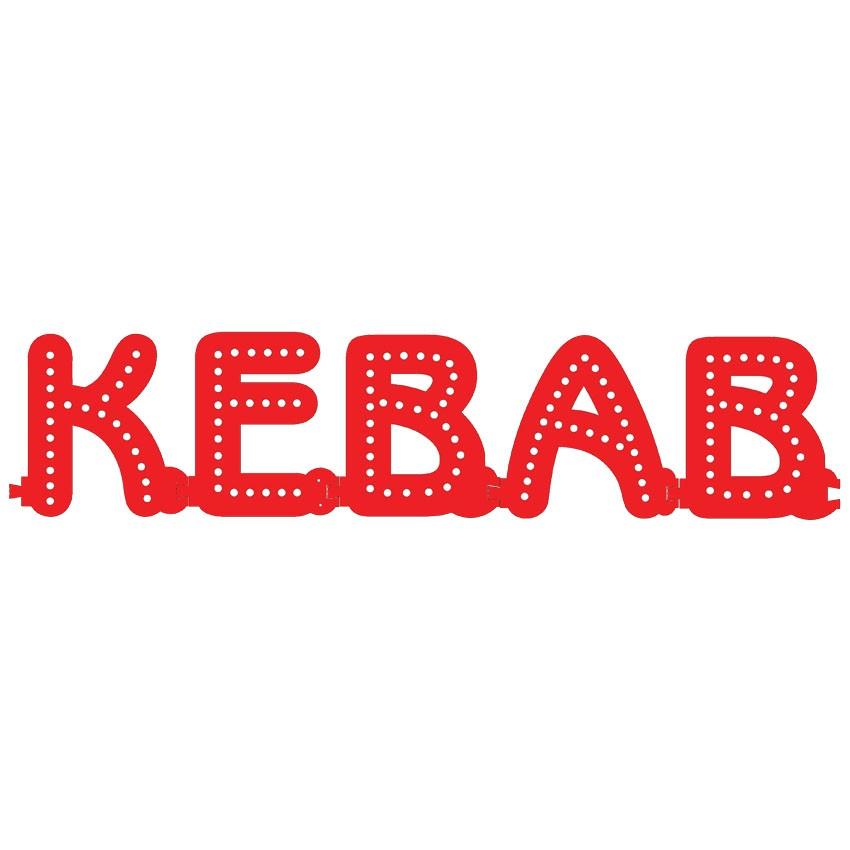 Enseigne KEBAB : lettres lumineuses Smart LED - Enseigne lumineuse LED pour vitrine restauration rapide