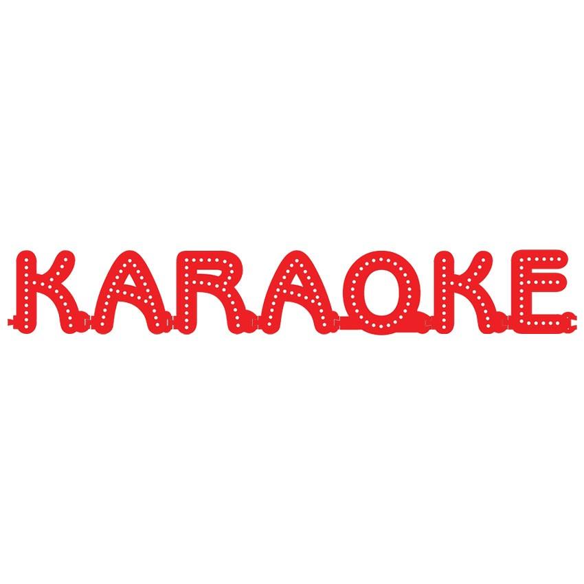 Enseigne lumineuse KARAOKE avec option Flash - Lettres lumineuses LED pour vitrine salles privées, bar karaoké