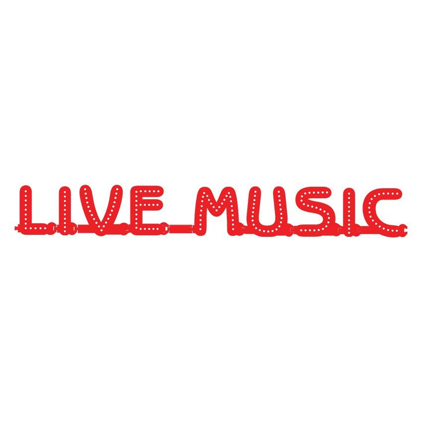 Enseigne LIVE MUSIC : lettres lumineuses Smart LED - Enseigne lumineuse LED pour vitrine salles privées, bar