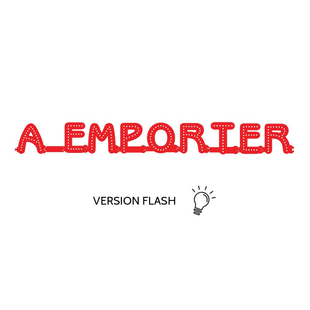 Enseigne lumineuse A EMPORTER avec option Flash - Lettres lumineuses LED pour vitrine restaurant