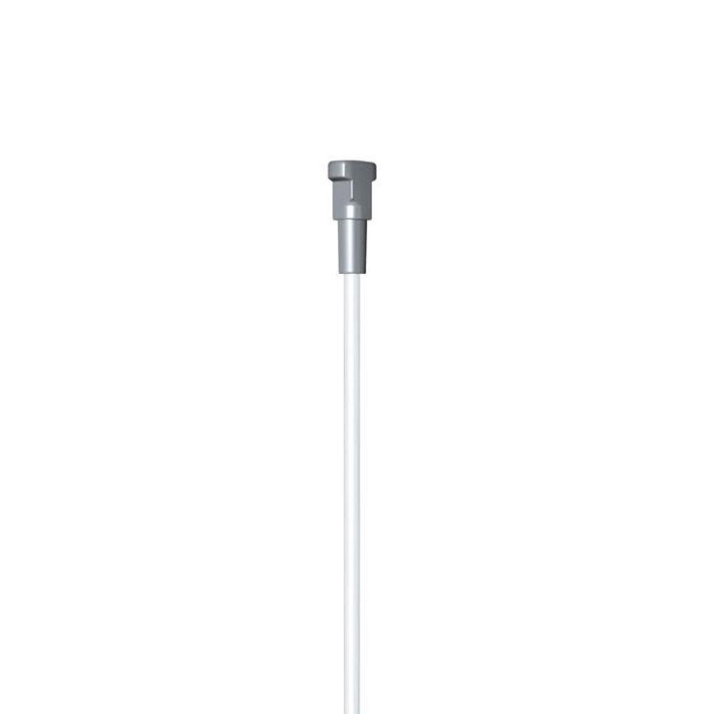Pacote 2 hastes 5mm branco 200cm com twister (suporte vendido separadamente)