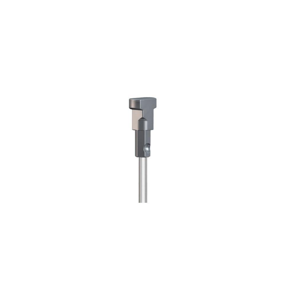 Pack 5 varillas de 2 mm blanco 200 cm con twister (soporte se vende por separado)