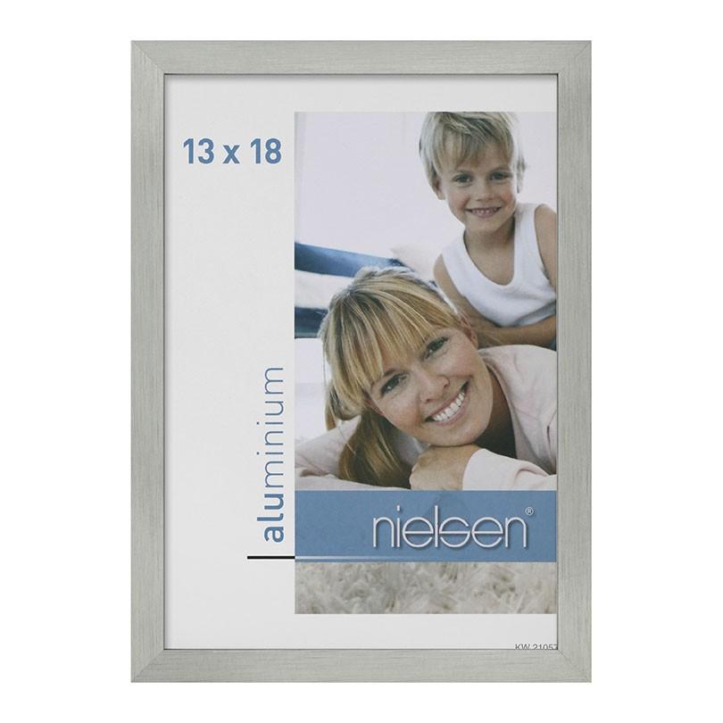 Lot de 2 cadres C2 Nielsen format 13 x 18 cm couleur Argent Mat Brossé - Cadre Nielsen en aluminium