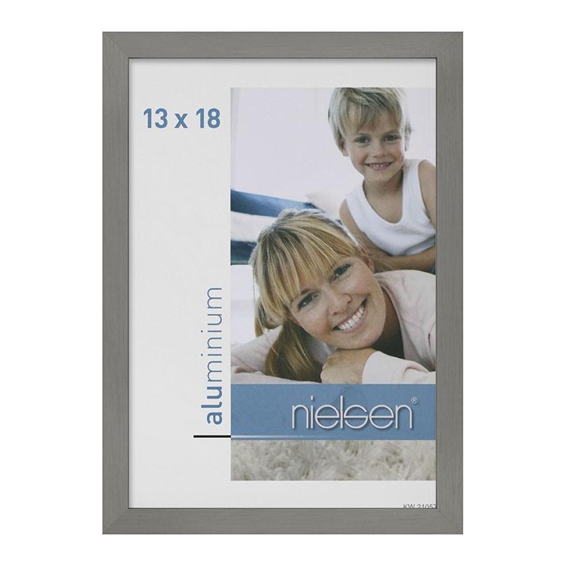 Lot de 2 cadres C2 Nielsen format 13 x 18 cm couleur Gris Mat Brossé - Cadre Nielsen en aluminium