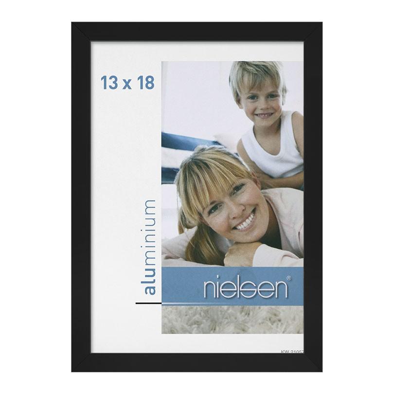 Lot de 2 cadres C2 Nielsen format 13 x 18 cm couleur Noir Anodisé - Cadre Nielsen en aluminium