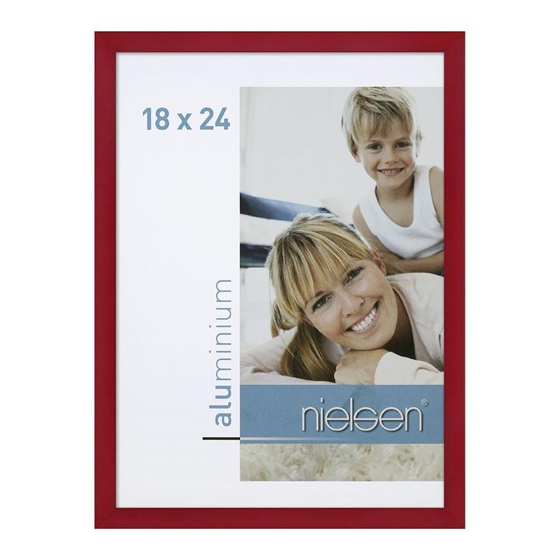 Lot de 2 cadres C2 Nielsen format 18 x 24 cm couleur Rouge - Cadre Nielsen en aluminium