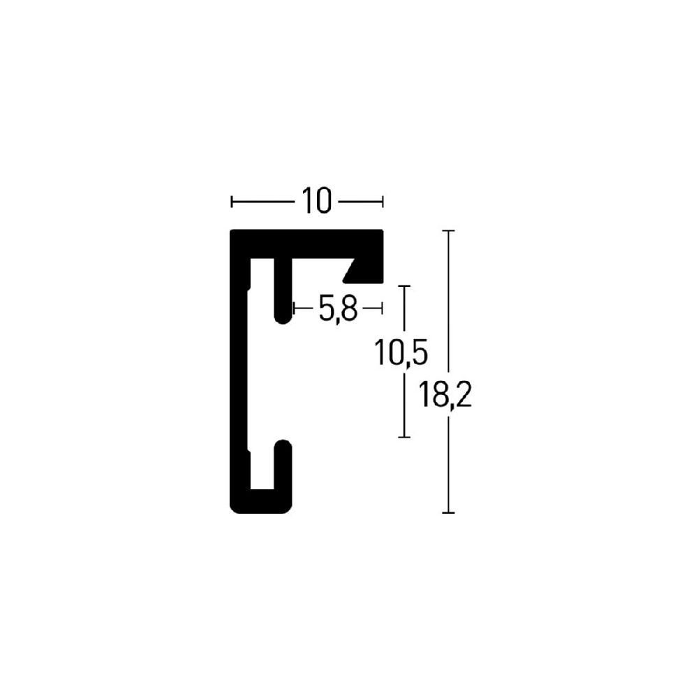 Lot de 3 cadres C2 Nielsen format 10 x 15 cm couleur Noir Mat Brossé - Cadre Nielsen en aluminium