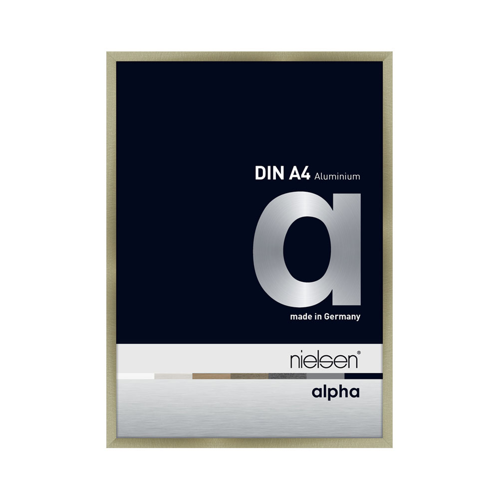 Lot de 3 cadres Nielsen Alpha format A4 - Trio couleur : or, cuivre, inox