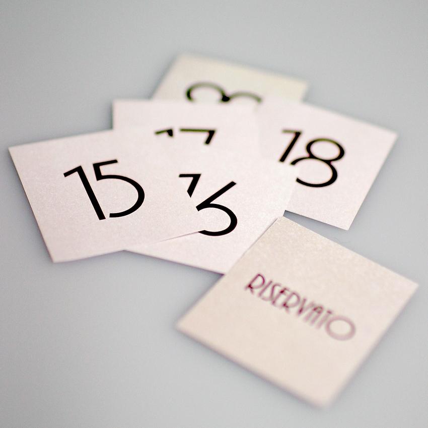 10 étiquettes RESERVATO pour cônes de table Dag Style