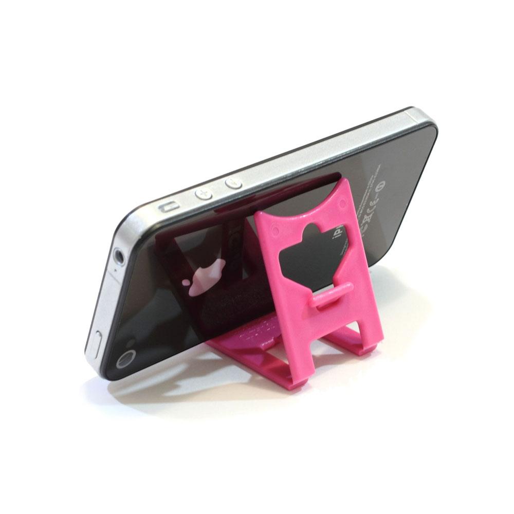 Support de bureau pliable pour smartphone tablette - Couleur rose - Support smartphone modèle SMALL