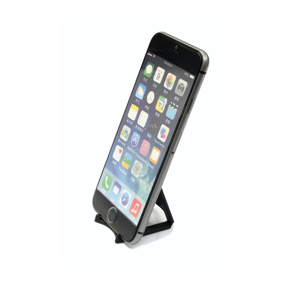 Support de bureau pliable pour smartphone tablette - Couleur noir - Support smartphone modèle SMALL