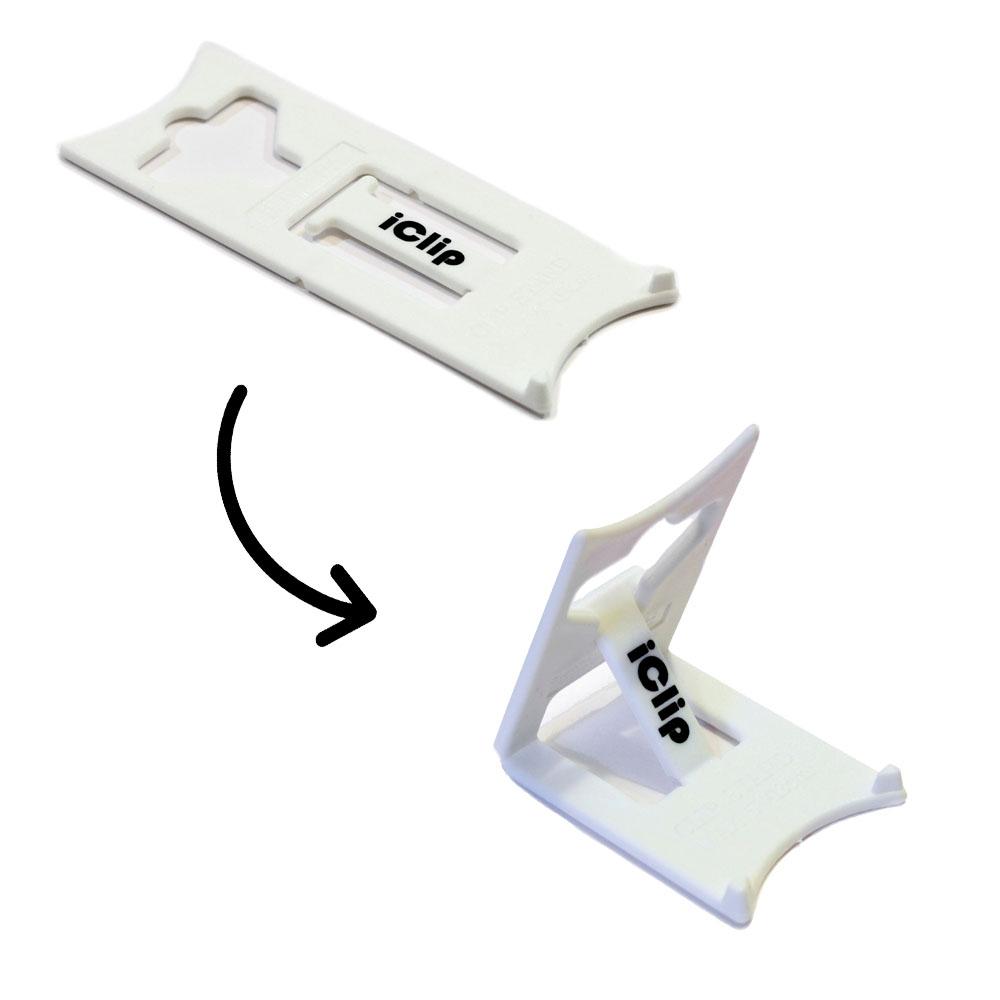 Support de bureau pliable pour smartphone tablette - Couleur blanc - Support smartphone modèle SMALL