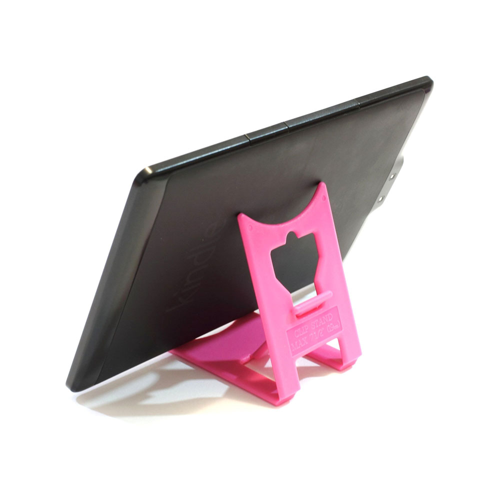 Support de bureau pliable pour tablette, liseuse, Kindle - Couleur rose - Support tablette modèle MEDIUM