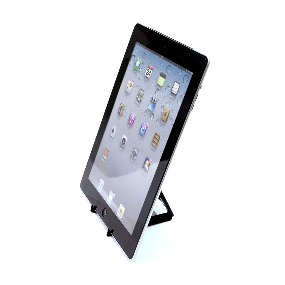 "Support de bureau pliable pour tablette max 10"" - Couleur noir - Support tablette modèle LARGE"