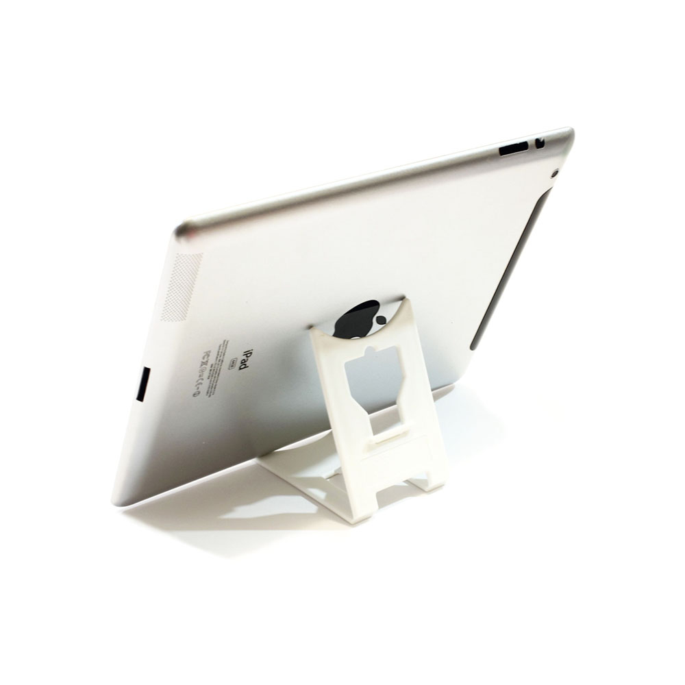 "Support de bureau pliable pour tablette max 10"" - Couleur blanc - Support tablette modèle LARGE"