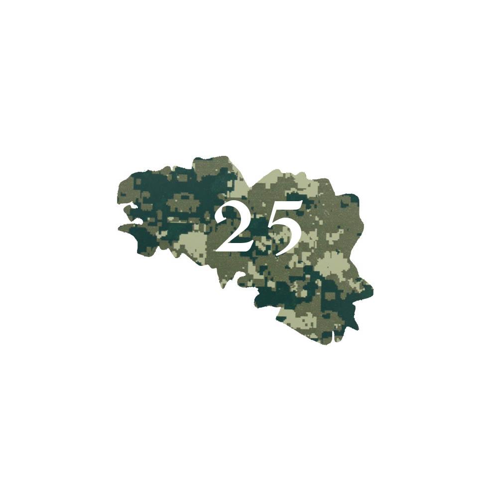 Numéro fantaisie personnalisable pour boite aux lettres couleur Camo Vert chiffres blancs - Modèle région Bretagne