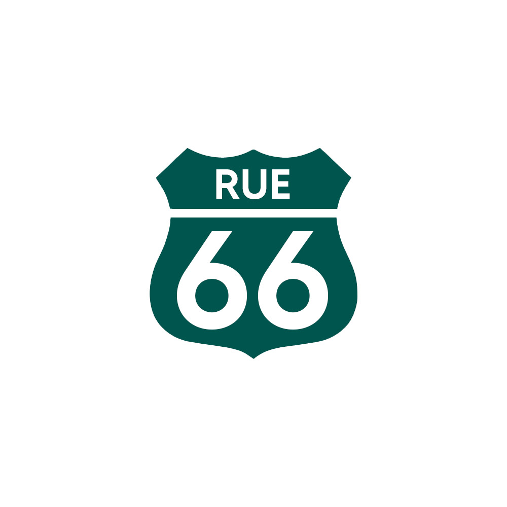 Numéro fantaisie personnalisable pour boite aux lettres couleur vert foncé chiffres blancs - Modèle Route 66