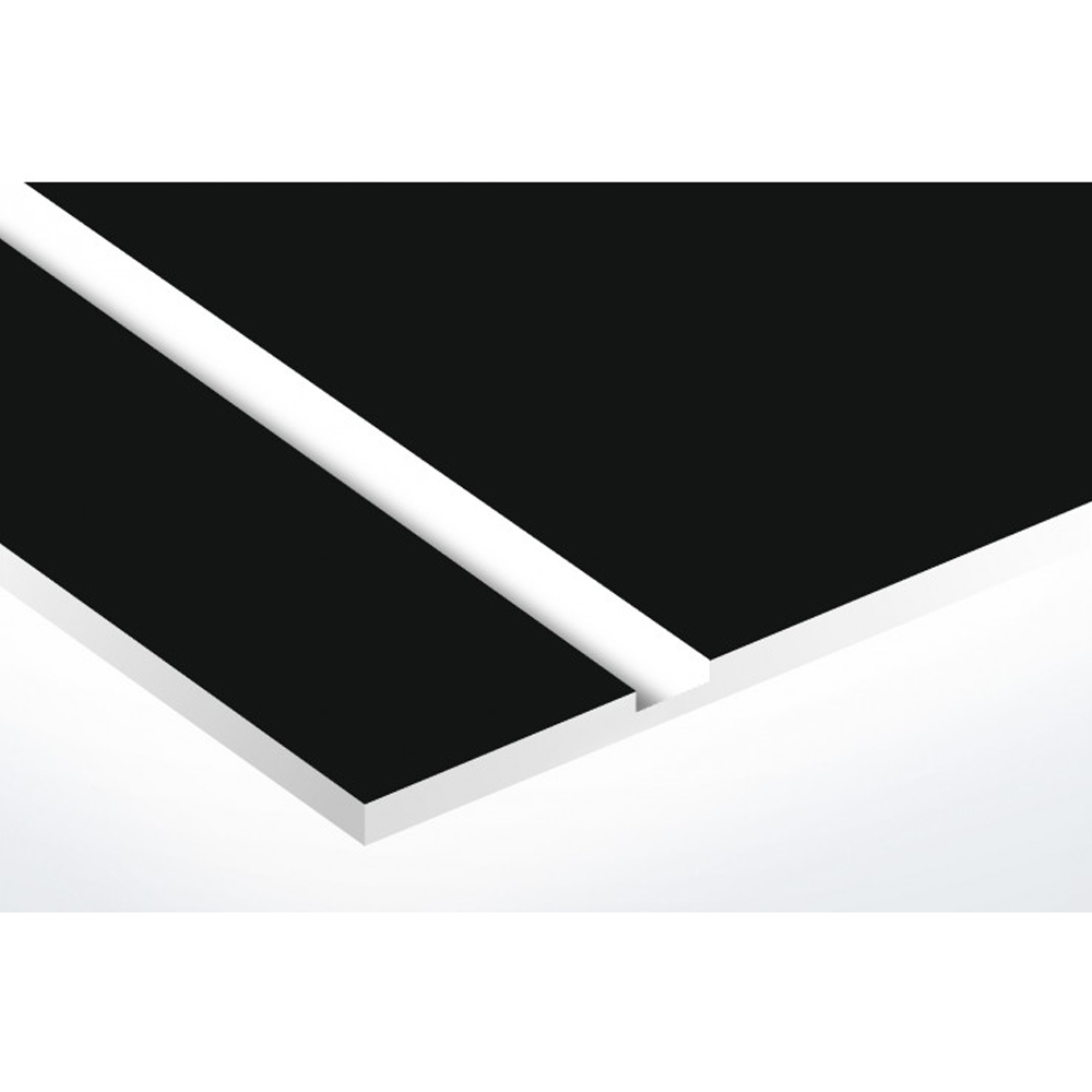 Numéro fantaisie personnalisable pour boite aux lettres couleur noir chiffres blancs - Modèle Route 66