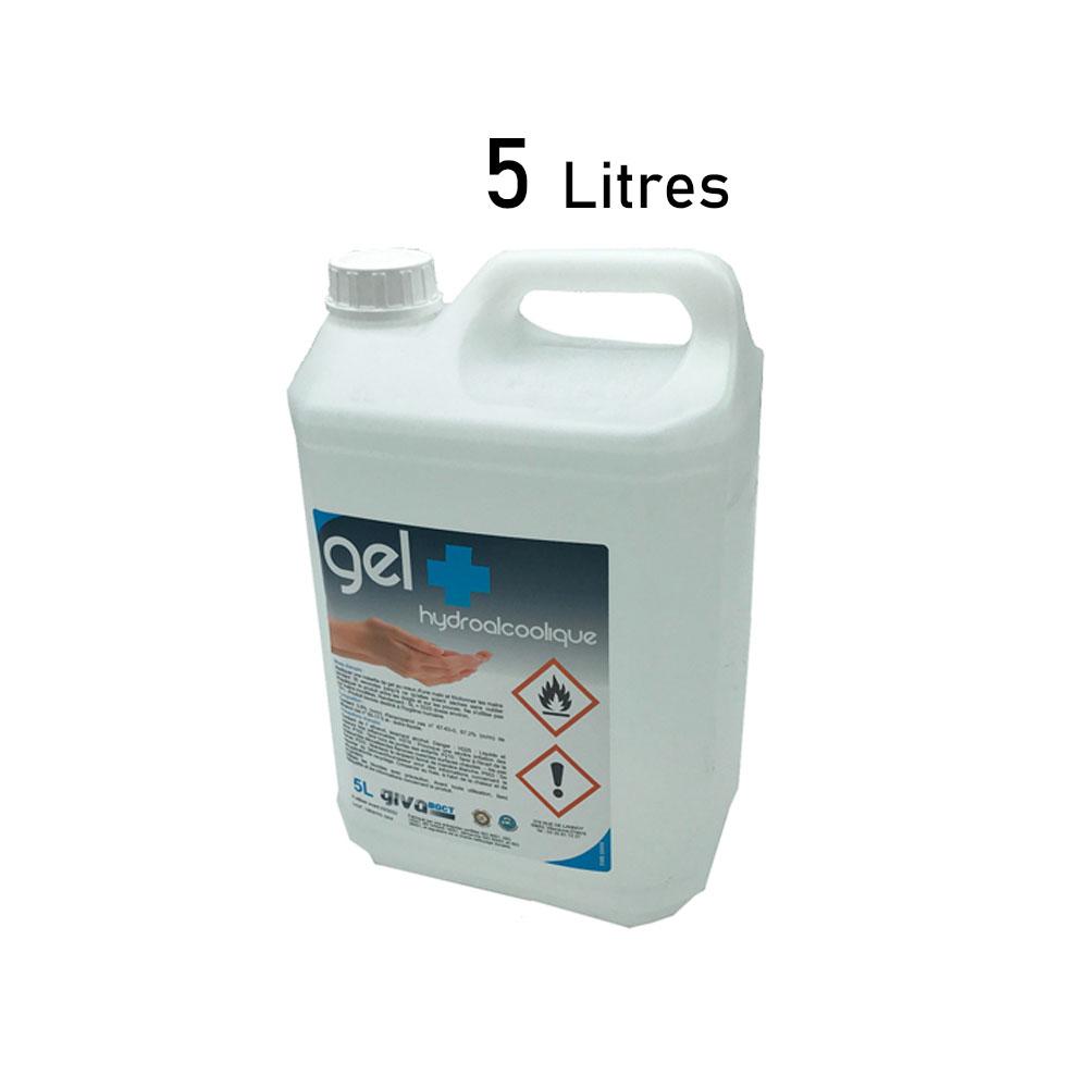 Bidon 5 Litres Gel hydro-alcoolique hygiène des mains - Norme NF EN14476