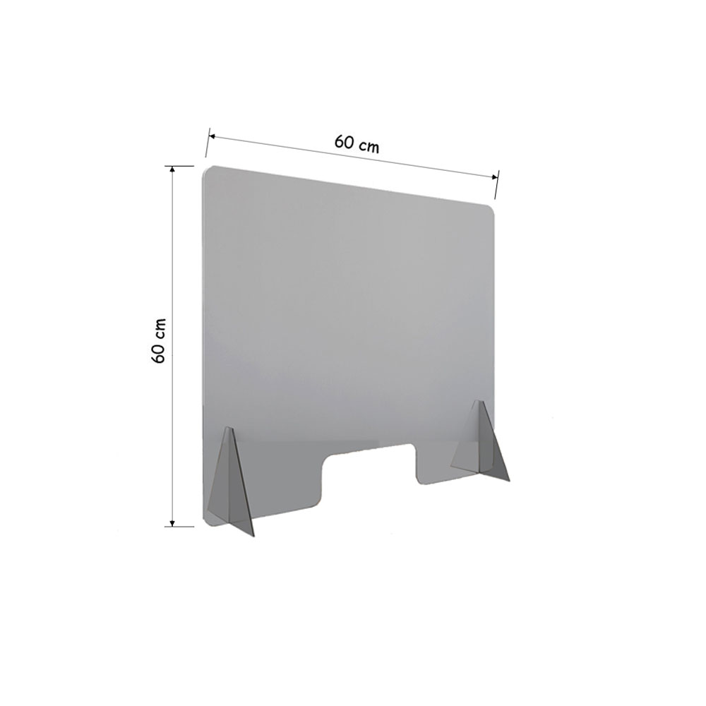 Ecran plexiglass, hygiaphone modèle BASIC - Vitre protection comptoir Covid-19 Coronavirus