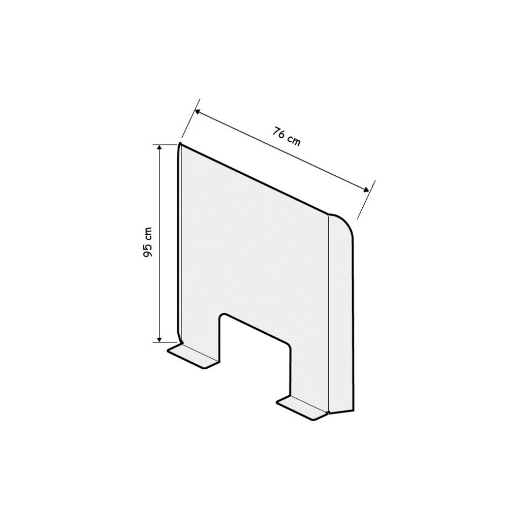Vitre de protection, hygiaphone plexiglass hauteur 95 cm - Ecran mobile comptoir Covid-19 Coronavirus
