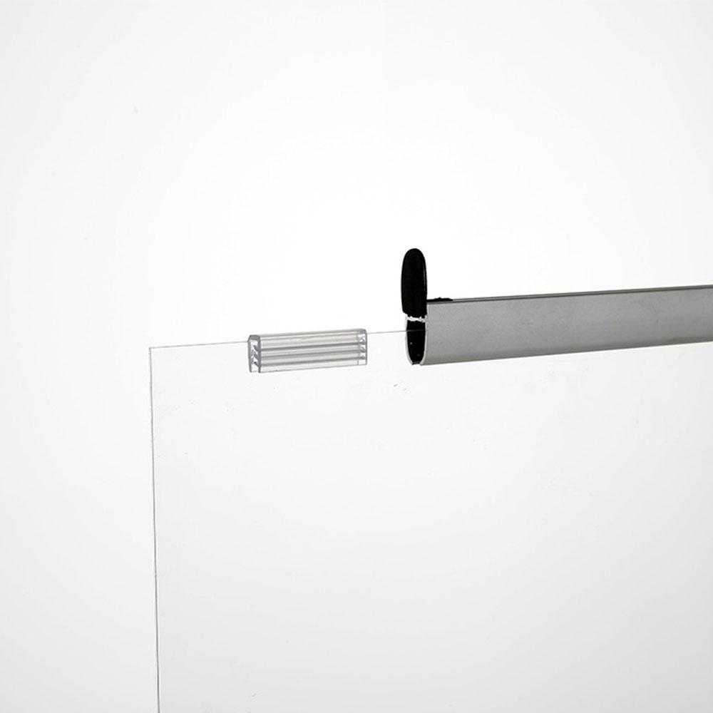 Vitre de protection suspendue en plexiglass - Hygiaphone suspendu (lutte Covid19, coronavirus)