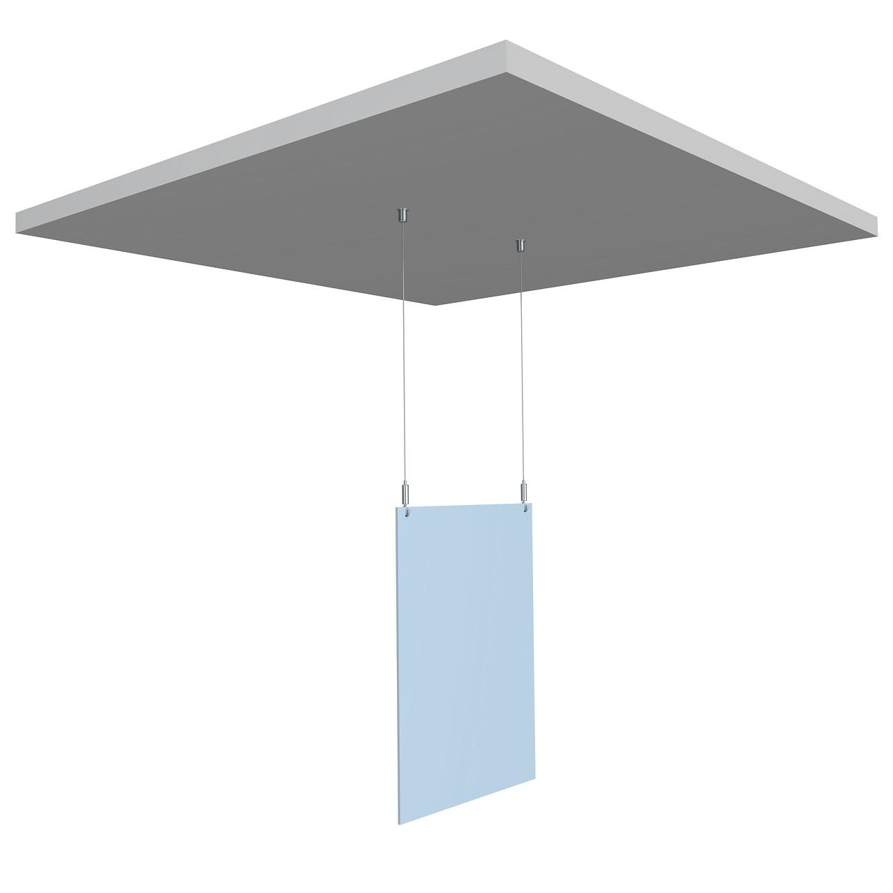 Attache plafond noir