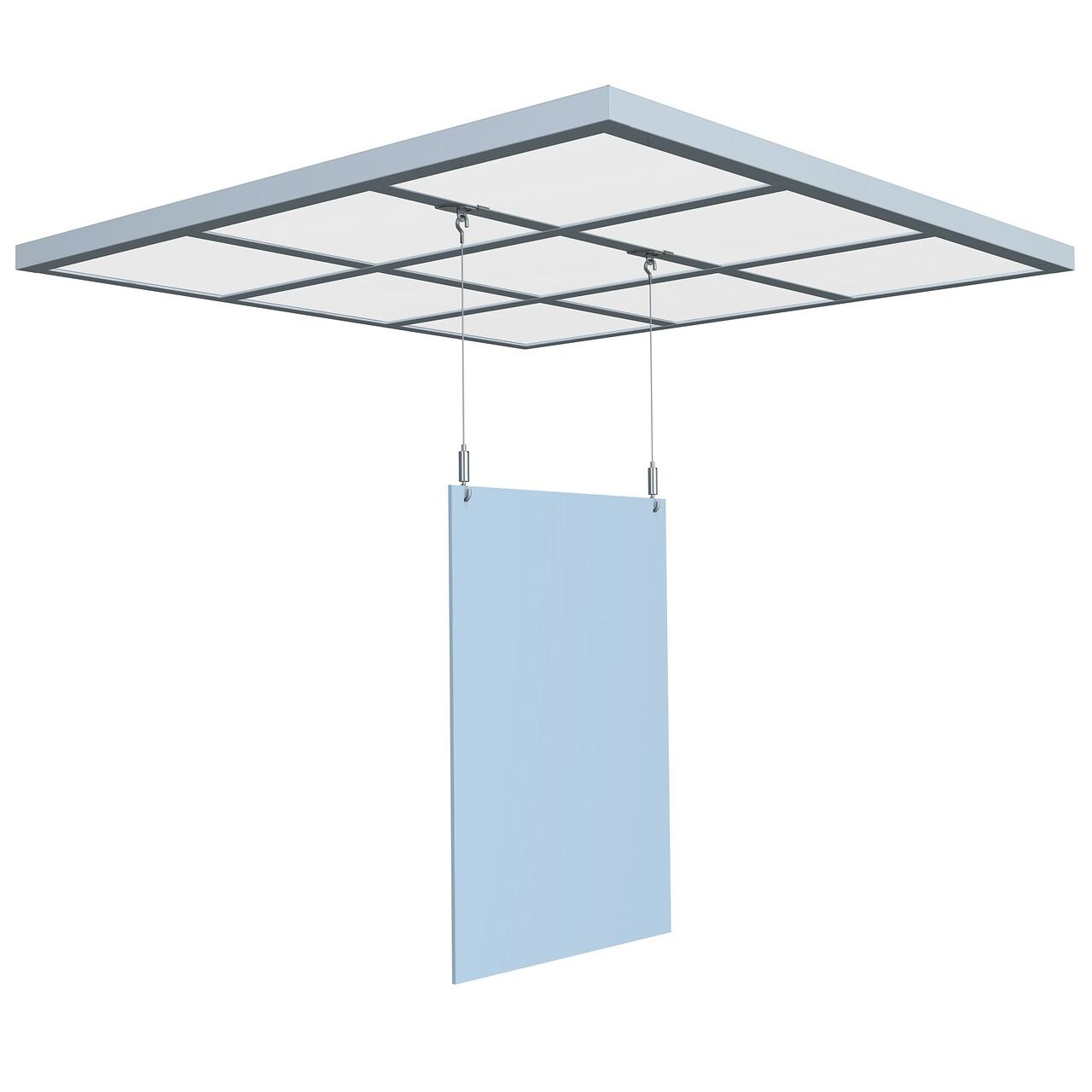 Attache faux plafond avec système autobloquant