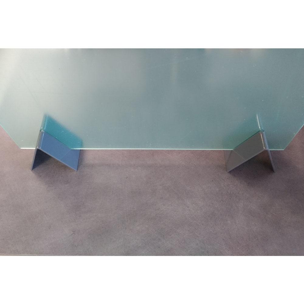 Lot de 2 pieds de soutien pour vitre de protection plexiglass 3 mm