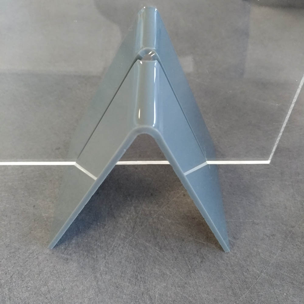 Lot de 2 pieds de soutien pour vitre de protection plexiglass 5 mm