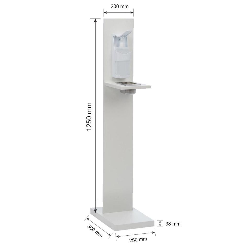 Pack 1 distributeur de gel hydroalcoolique et 1 bidon 5 Litres de solution hydroalcoolique