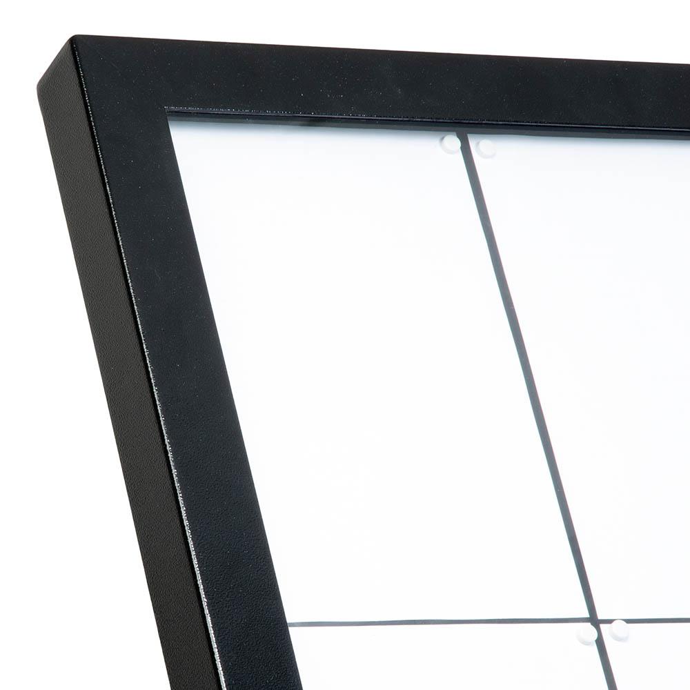 Porte menu mural 8 x A4 modèle Black Star XXL (éclairage LED) pour présentation menu hôtel restaurant