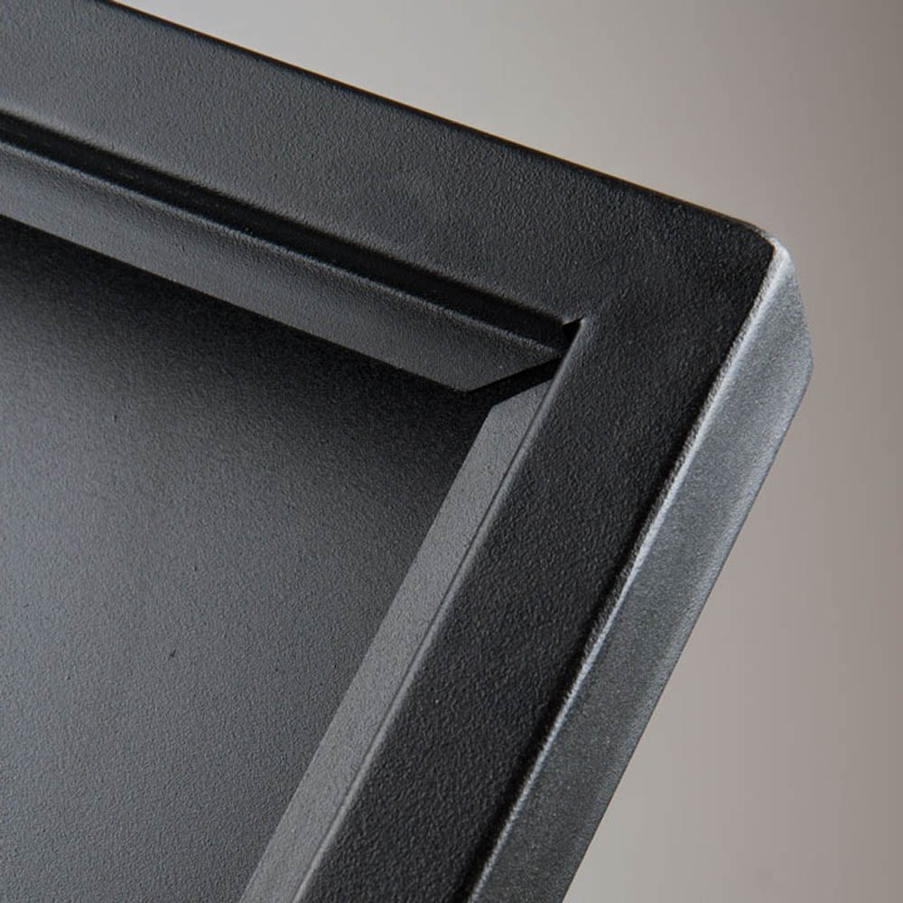 Porte menu intérieur extérieur Black Hammer 3 x A4 couleur noir